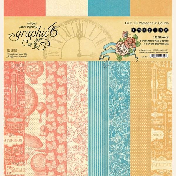Papir blok 12x12 Patterns & Solids fra Graphic 45 - Imagine
