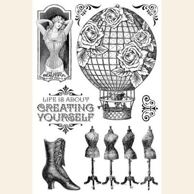 Clear Acrylic Stamp - Silikone stempel - Create Yourself - Imagine fra Graphic 45