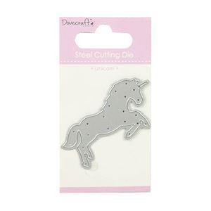 Enhjørning - Unicorn die fra Dovecraft - til scrapbooking og kort