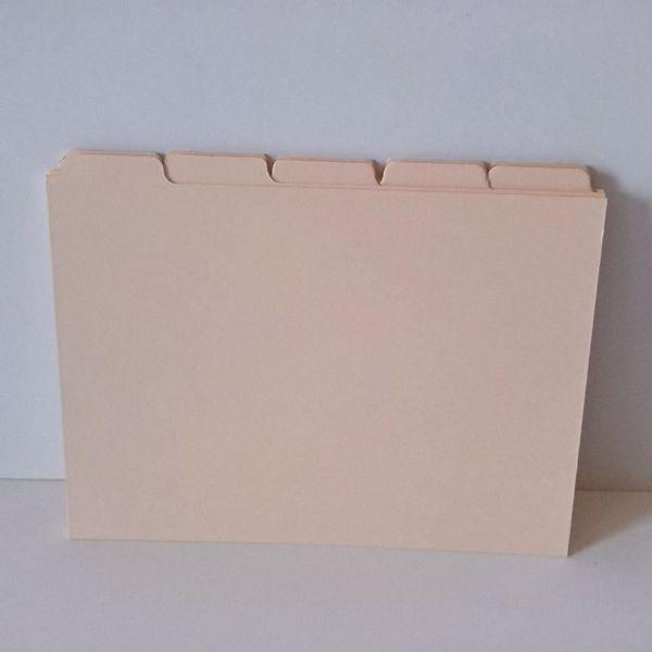 Fanekort sæt med 2 x 5 Fanekort til kartotek eller inddeling i håndlavede bøger