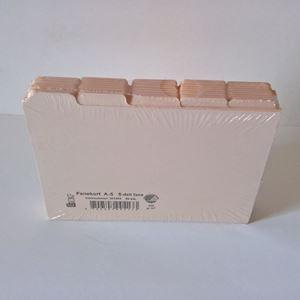 Fanekort sæt med 10 x 5 Fanekort til kartotek eller inddeling i håndlavede bøger