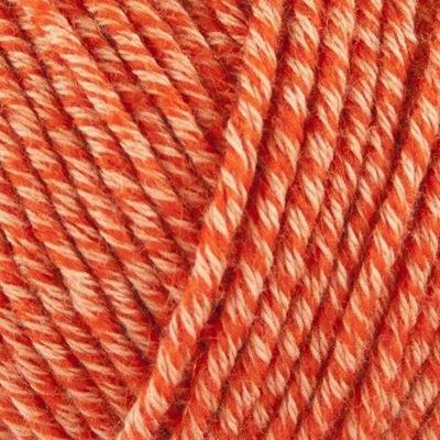 Organic Cotton + Merino Wool strikkegarn fra ONION - 722 Coral Orange