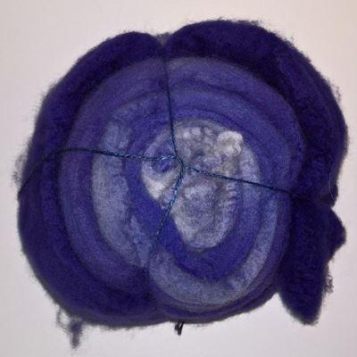 Håndmalet Blueface Leicester tops - BFL - Spindefibre til spinderok og håndten