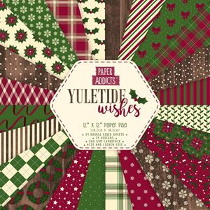 Paper Addicts - Yuletide Wishes design papir pakning til scrapbooking og kort - PAPAD019X18
