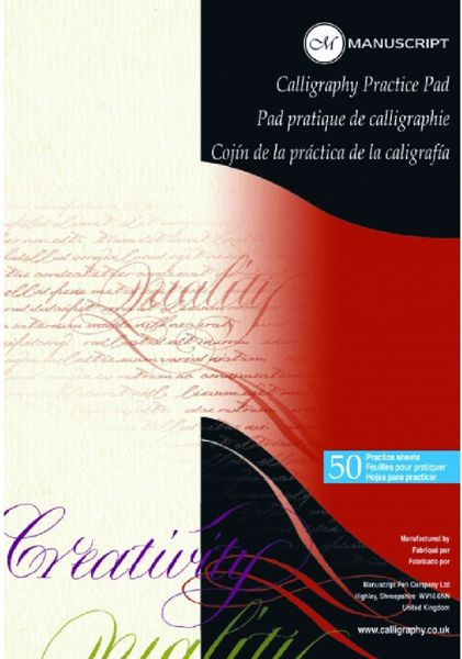 Manuscript Calligraphy Practice Pad - A4 - 50 ark