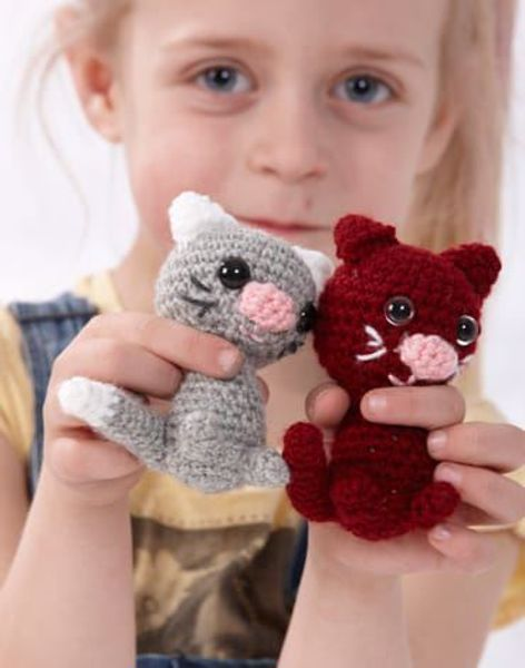 Små katte Hækleopskrift - 13100 hæklet fra Marks & Kattens