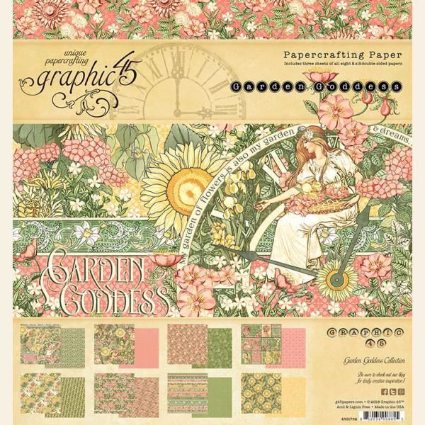 Papir blok 8x8 fra Graphic 45 - Garden Goddess