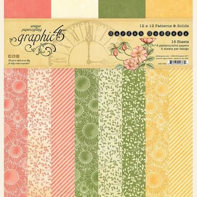 Papir blok 12x12 Patterns & Solids fra Graphic 45 - Garden Goddess