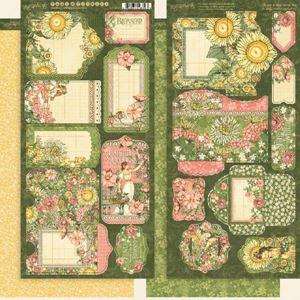 Tags og lommer i karton fra Graphic 45 - Garden Goddess