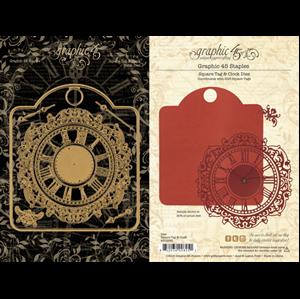 Squar Tag & Clock Metal Dies - beklæd dine tags fra Graphic 45