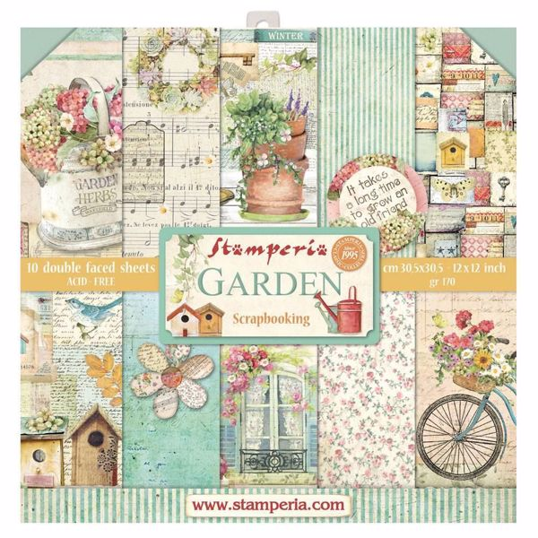Stamperia Garden design papir pakning til scrapbooking og kort - SBBL43