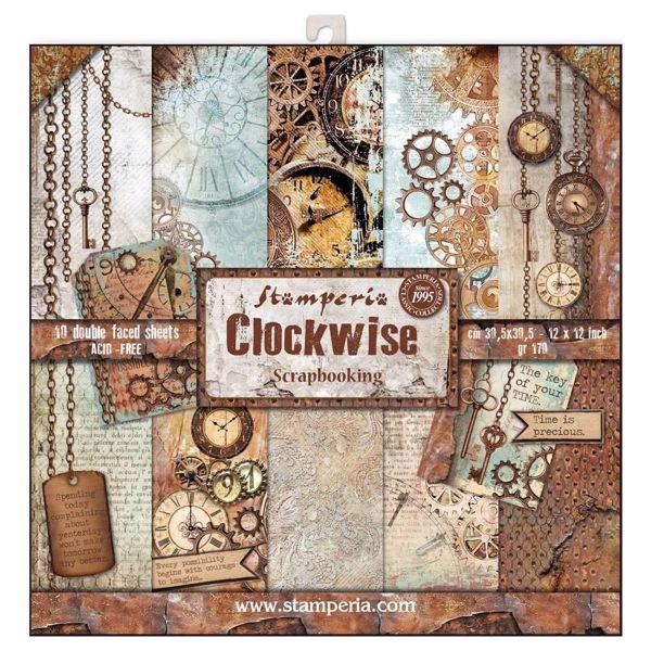 Stamperia Clockwise design papir pakning til scrapbooking og kort - SBBL39