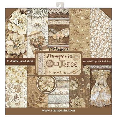 Stamperia Old Lace design papir pakning til scrapbooking og kort - SBBL32