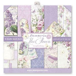 Stamperia Lilac Flowers design papir pakning til scrapbooking og kort - SBBL21