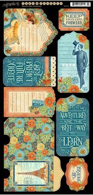 Tags og lommer i karton - World's Fair 4501178 - fra Graphic 45