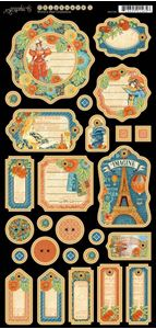 Journaling chipboard i pap fra Graphic 45 - Worlds Fair 4501180