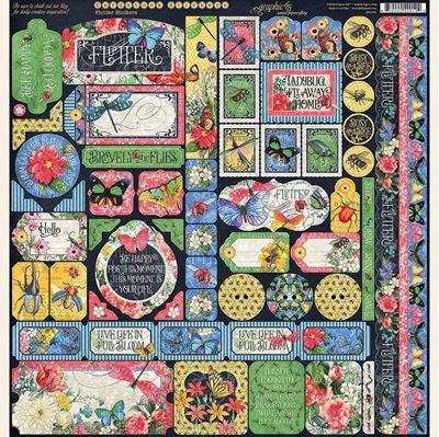 Stickers klistermærker fra Graphic 45 - Flutter 4501781