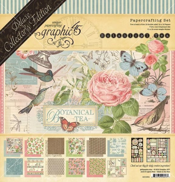 Papir blok 12x12 mm fra Graphic 45 - Botanical Tea - Deluxe Collector's Edition