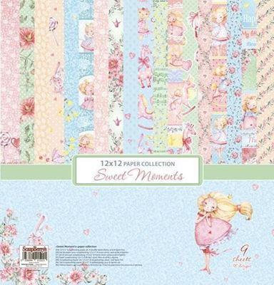 Sweet Moments design papir pakning fra Scrapberry's til scrapbooking og kort - SCB220610300b