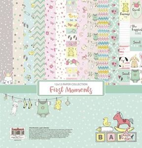 First Moments design papir pakning fra Scrapberry's til scrapbooking og kort - SCB220611100b