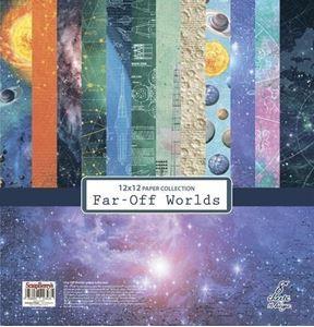 Far-off worlds design papir pakning fra Scrapberry's til scrapbooking og kort - SCB220610900b