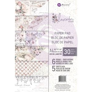 Lavender Frost design papir fra Prima Marketing til Mix Media, scrapbooking og kort - A4 632618