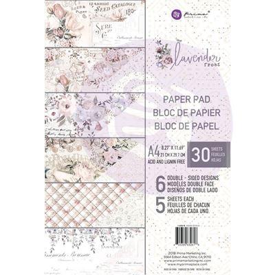 Lavender Frost design papir fra Prima Marketing til Mix Media, scrapbooking og kort - A4 632618