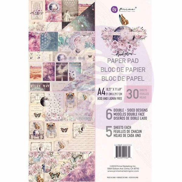 Moon Child design papir fra Prima Marketing til Mix Media, scrapbooking og kort - A4 994679