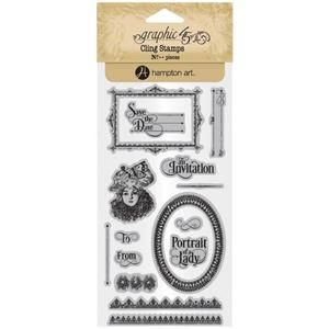 Gummi stempel fra Graphic 45 - Portrait of a Lady, no. 3 - ICO382