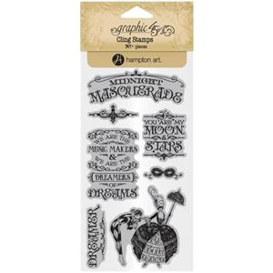 Gummi stempel fra Graphic 45 - Midnight Masquerade, no. 1 - ICO383