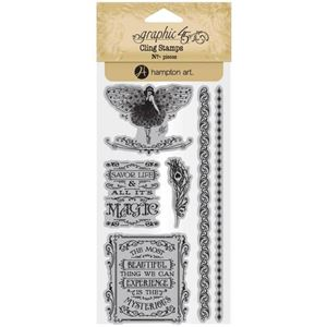 Gummi stempel fra Graphic 45 - Midnight Masquerade, no. 3 - ICO385