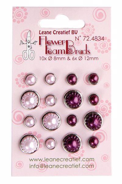Flower Foam brads - 18 brads fra Leane Creatief