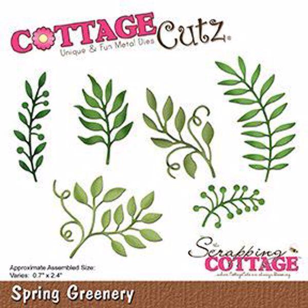 Cottage Cutz Blad Grene - Spring Greenery standsejern til scrapbooking - CC-244