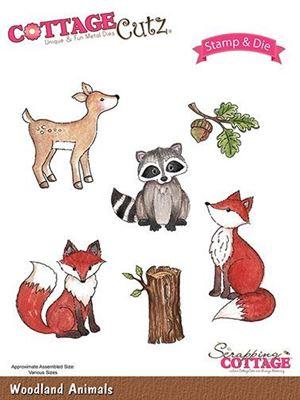 Cottage Cutz Skovens dyr - Woodland Animals standsejern til scrapbooking - CCS-019