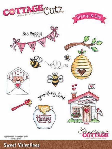Cottage Cutz Honning - Sweet Valentines standsejern til scrapbooking - CCS-018