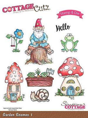 Cottage Cutz Havenisser - Garden Gnomes 1 standsejern til scrapbooking - CCS-015