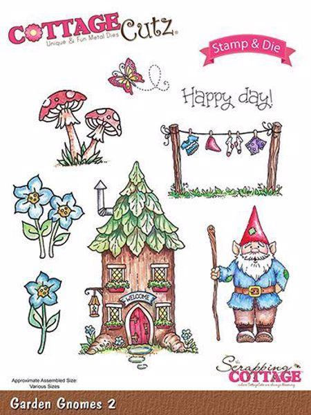 Cottage Cutz Havenisser - Garden Gnomes 2 standsejern til scrapbooking - CCS-016