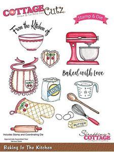 Cottage Cutz Bageudstyr - Baking In The Kitchen standsejern til scrapbooking - CCS-013
