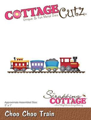 Cottage Cutz Fut tog - Choo Choo Train standsejern til scrapbooking - CC-298