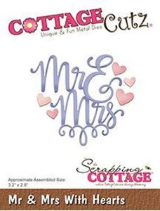 Cottage Cutz Hr & Fru - Mr & mrse standsejern til scrapbooking - CC-322