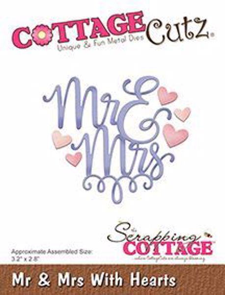 Cottage Cutz Hr & Fru - Mr & mrse standsejern til scrapbooking - CC-322