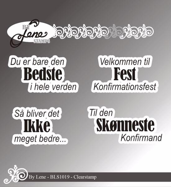 By Lene Stamps, tekst stempler til scrapbooking og kort - BLS1019
