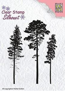 Silhuet 3 Pines, Fyrretræer silikone stempel fra Nellie Snellen - SIL037