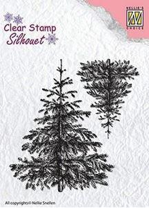 Silhuet 2 Grantræer silikone stempel fra Nellie Snellen - SIL038