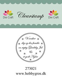 """Clearstamp """"Vi ønsker dig..."""" fra Dixi Craft - 273021"""