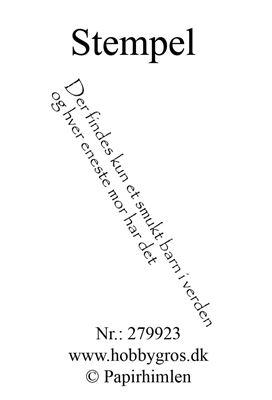 "Clearstamp ""Der findes kun..."" fra Papirhimlen - 279923"