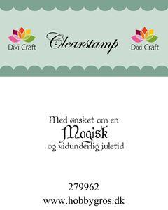 """Clearstamp """"Med ønsket om..."""" fra Dixi Craft - 279962"""