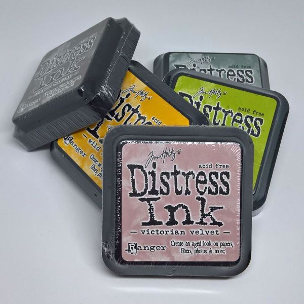 Stempelpuder Distress Ink fra Tim Holtz, Ranger til stempler