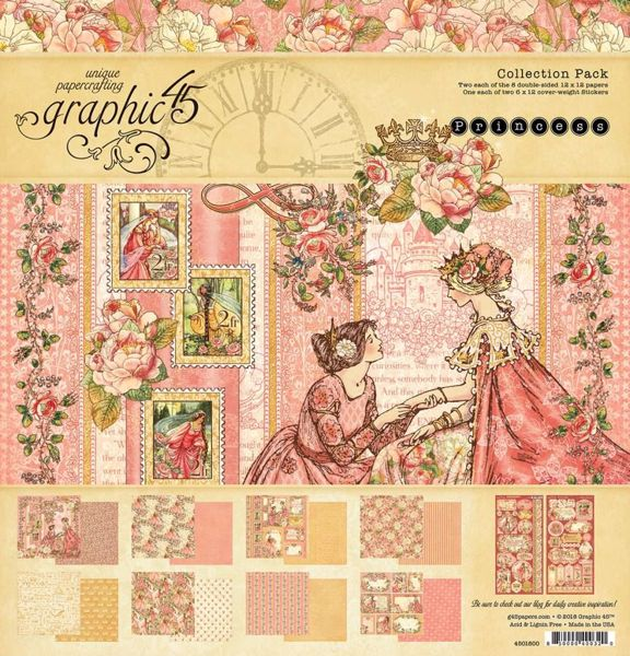Papir kollektion 12x12 fra Graphic 45 - Princess