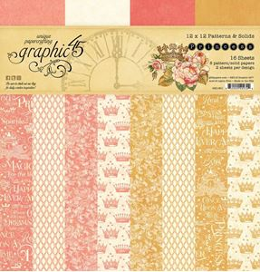 Papir blok 12x12 Patterns & Solids fra Graphic 45 - Princess